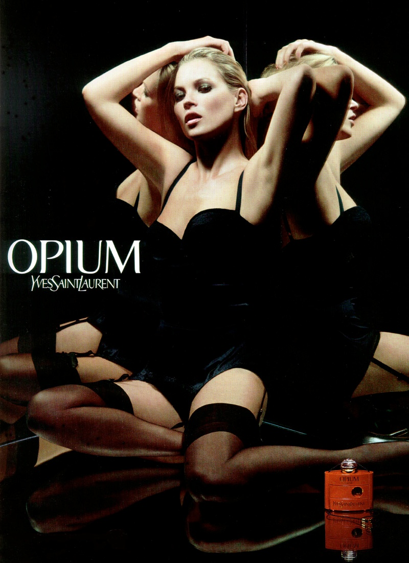 moss ysl opium Happy Birthday Kate Moss! TBT Photos as The Supermodel Turns 40