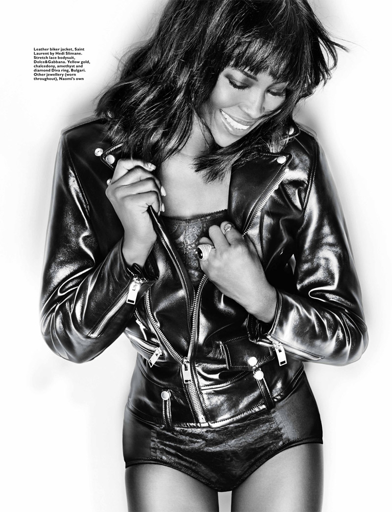 Naomi Campbell Poses for Gan in Harper's Bazaar Singapore January 2014