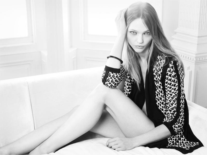 Sasha Pivovarova Charms in Nic+Zoe Spring/Summer 2014 Campaign