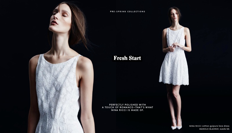 Franzi Mueller Gets a 'Fresh Start' with Nina Ricci Resort 2014 for Barneys New York