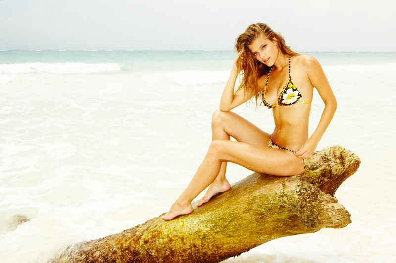nina swimsuit1 Nina Agdal is Sexy in Swimsuits for Gosee Shoot by Antoine Verglas