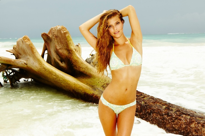 nina swimsuit3 Nina Agdal is Sexy in Swimsuits for Gosee Shoot by Antoine Verglas