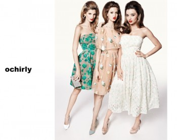 Miranda Kerr, Lindsey Wixson + Ava Smith Front Ochirly Spring 2014 Campaign