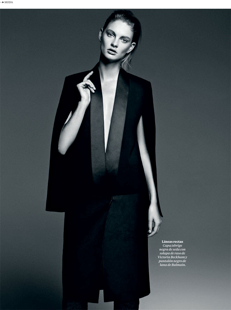 patricia black white2 Patricia Van der Vliet Models for David Roemer in El Pais Semanal