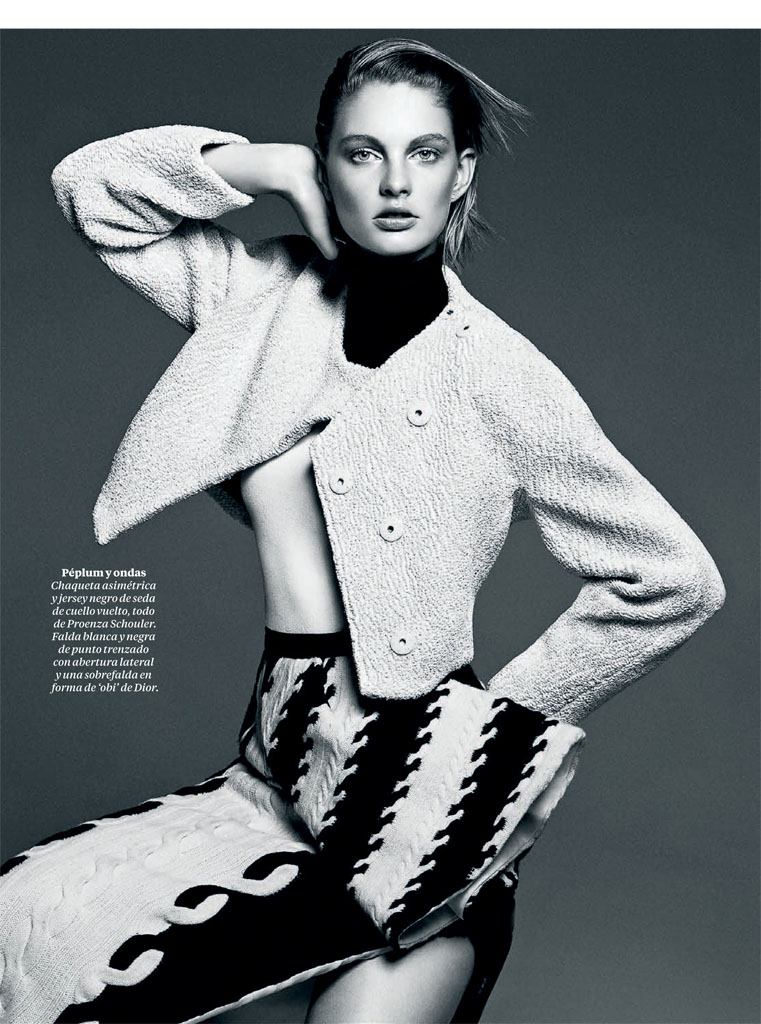 patricia black white3 Patricia Van der Vliet Models for David Roemer in El Pais Semanal