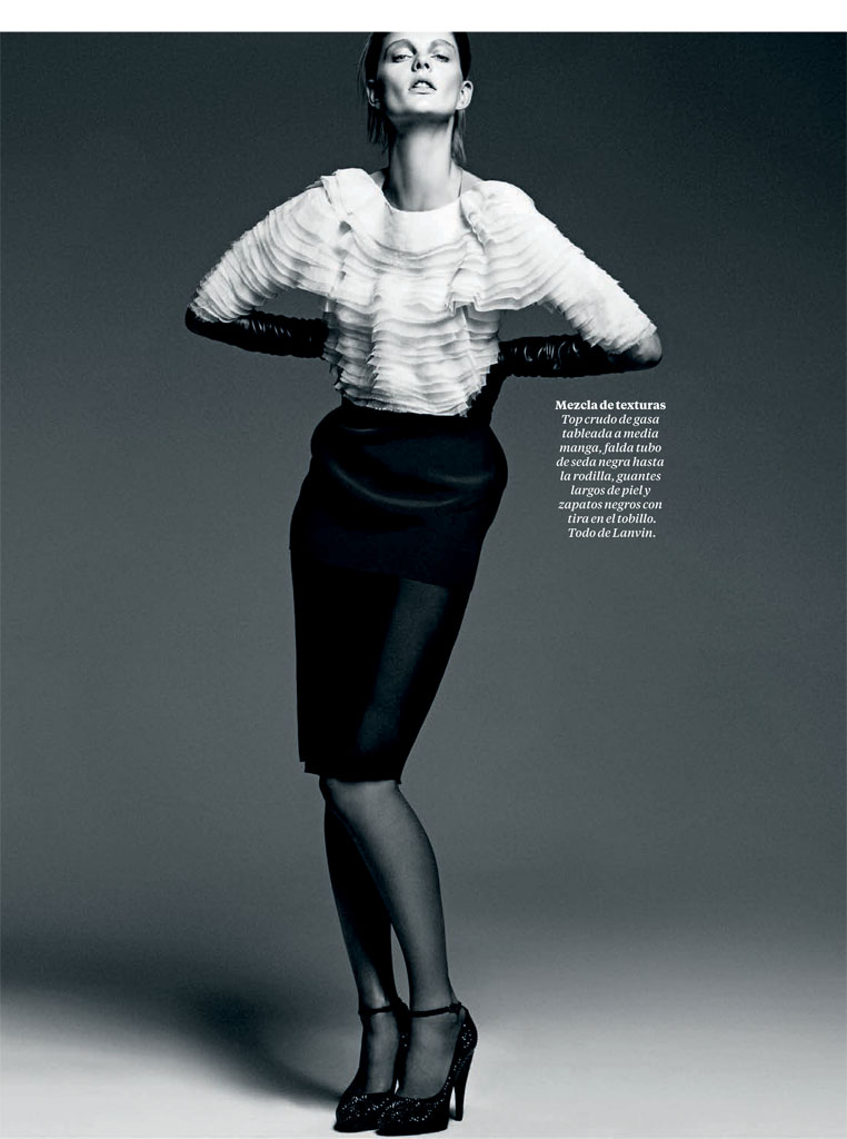 patricia black white5 Patricia Van der Vliet Models for David Roemer in El Pais Semanal