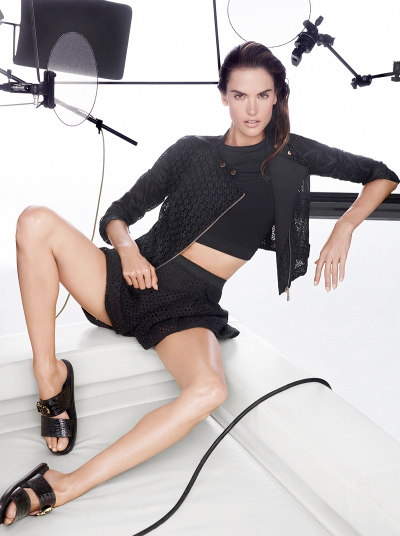 Alessandra Ambrosio Fronts Pinko Spring/Summer 2014 Campaign