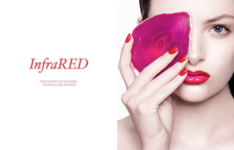 red beauty story Siobhan OKeefe by Sam Bisso in Infrared for Fashion Gone Rogue