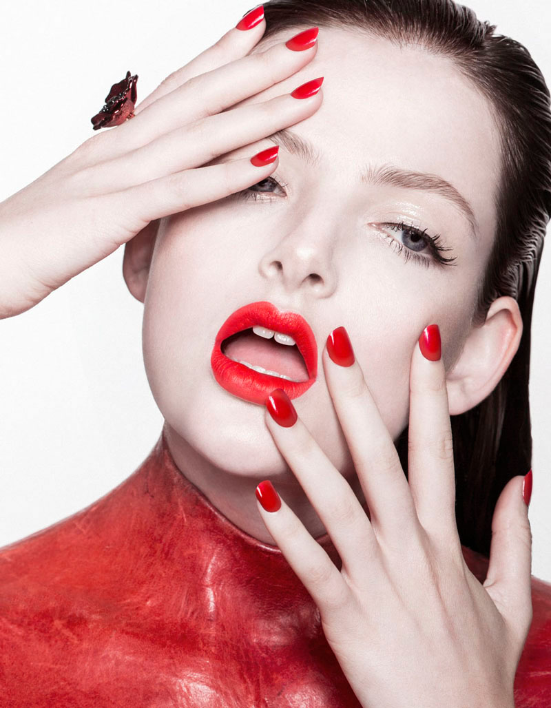 red beauty story3 Siobhan OKeefe by Sam Bisso in Infrared for Fashion Gone Rogue