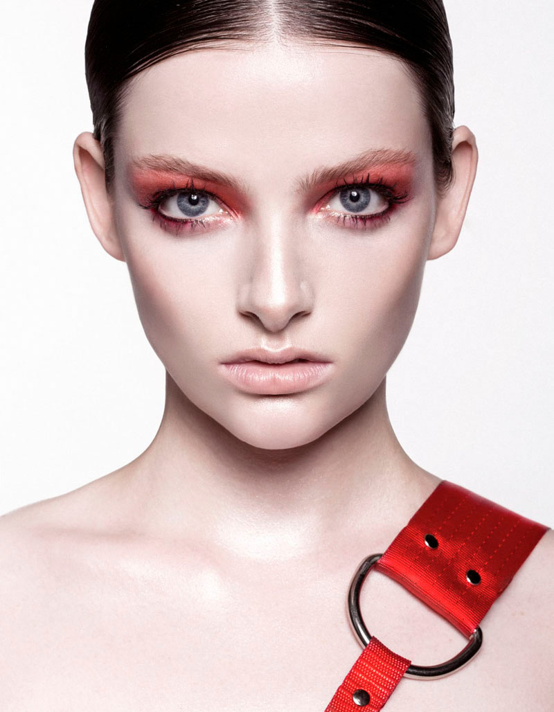 red beauty story5 Siobhan OKeefe by Sam Bisso in Infrared for Fashion Gone Rogue