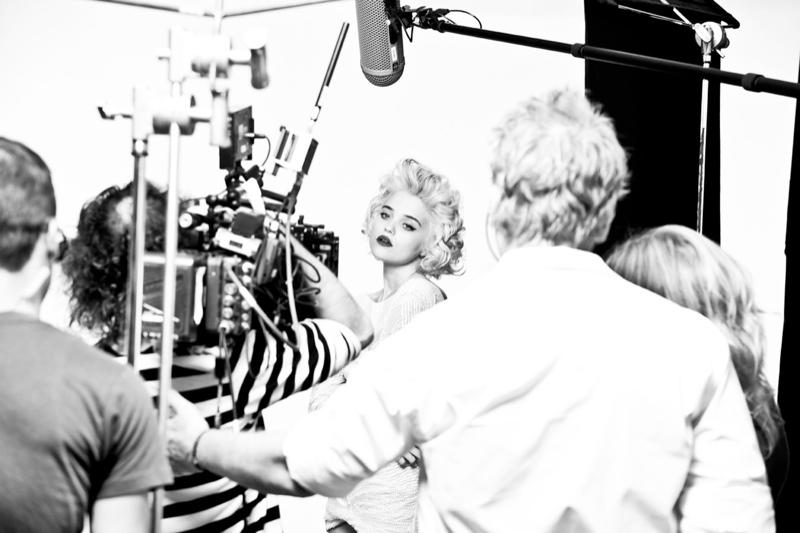 Sky Ferreira Behind the Scenes at Redken Shoot