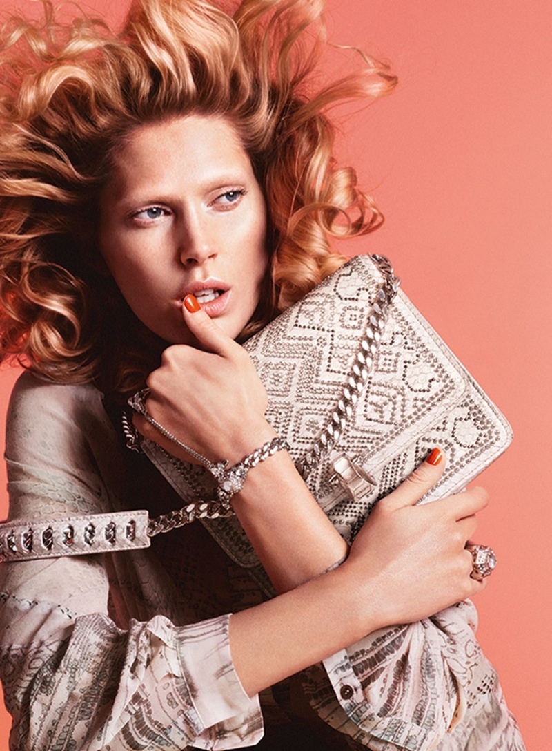 Iselin Steiro Fronts Roberto Cavalli Spring/Summer 2014 Campaign