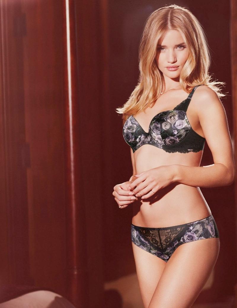 Rosie Huntington-Whiteley Models Autograph Lingerie Spring 2014 Line