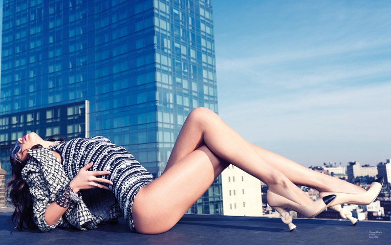 Sara Sampaio Models Resort Looks for Stockton Johnson in Modern Media