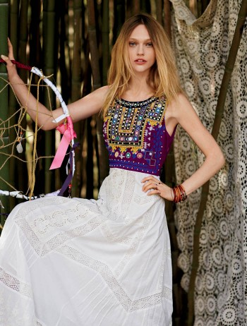 Sasha Pivovarova Stars in Free People's January Catalogue