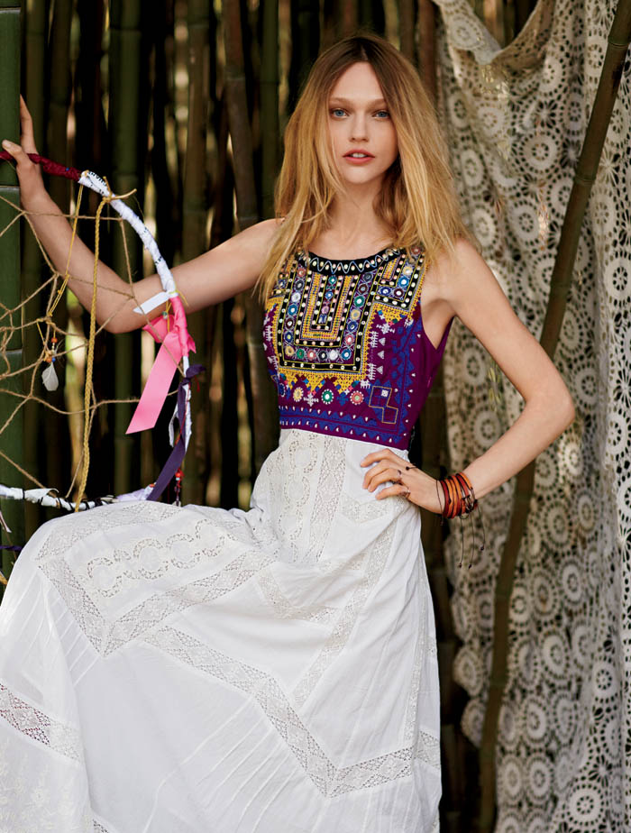 sasha free people10 Sasha Pivovarova Stars in Free Peoples January Catalogue