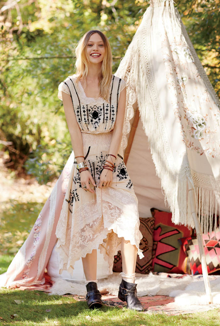 sasha free people2 Sasha Pivovarova Stars in Free Peoples January Catalogue