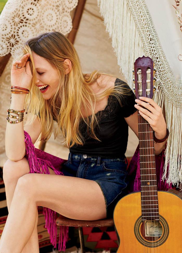 Sasha Pivovarova Stars in Free People's January Catalogue