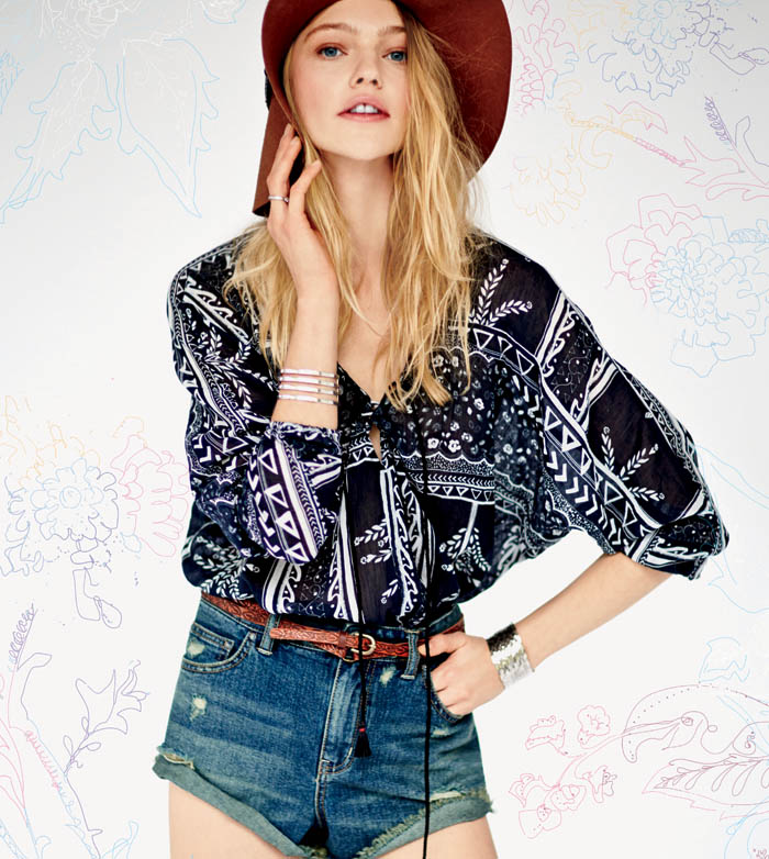 sasha free people5 Sasha Pivovarova Stars in Free Peoples January Catalogue