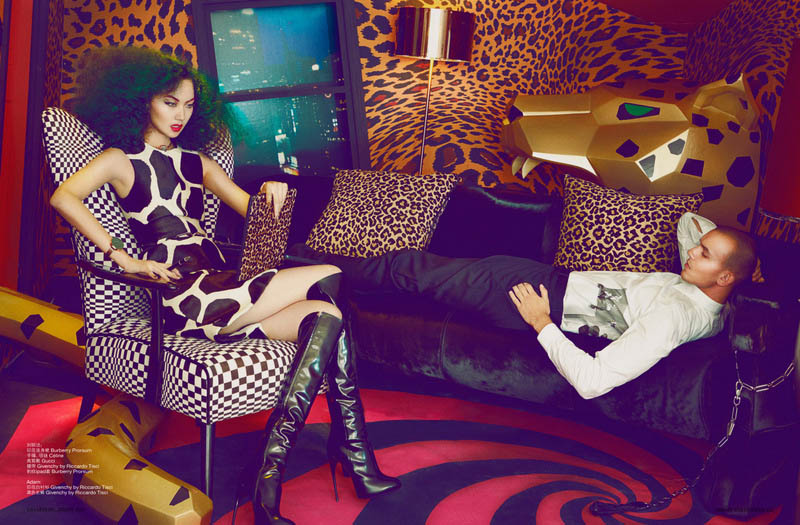 shxpir lofficiel china2 Liu Lijie Goes Wild for LOfficiel China Shoot by Shxpir