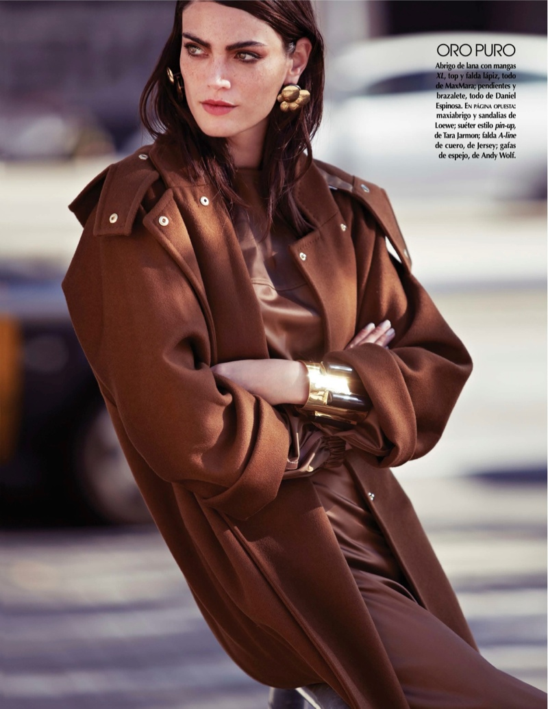 street style shoot2 Djamila Del Pino Hits the Streets for Vogue Mexico by Elena Bofill