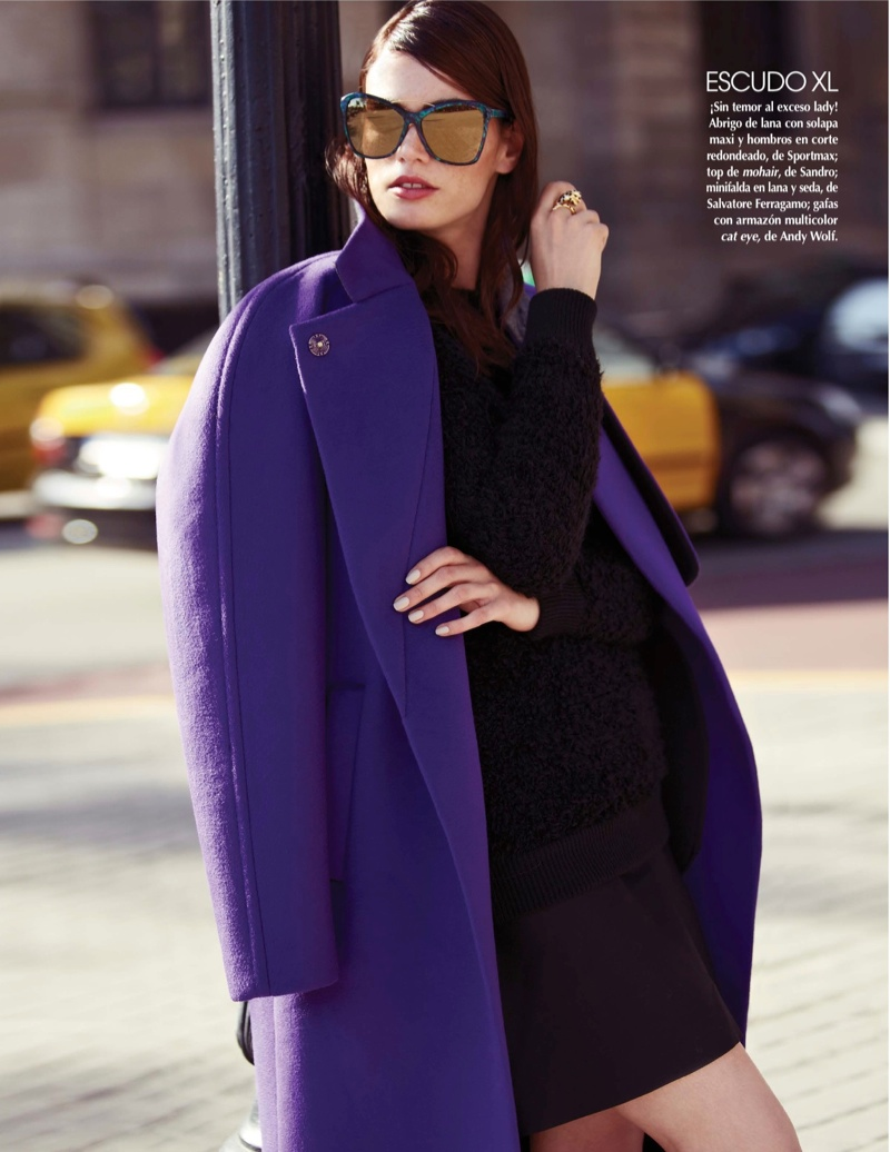 street style shoot6 Djamila Del Pino Hits the Streets for Vogue Mexico by Elena Bofill