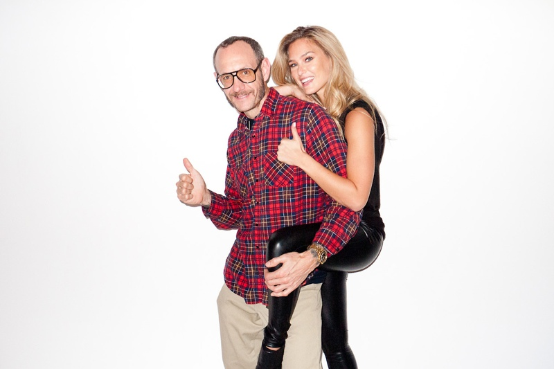 terry studio5 Bar Refaeli & Diane von Furstenberg Pose for Terry Richardson