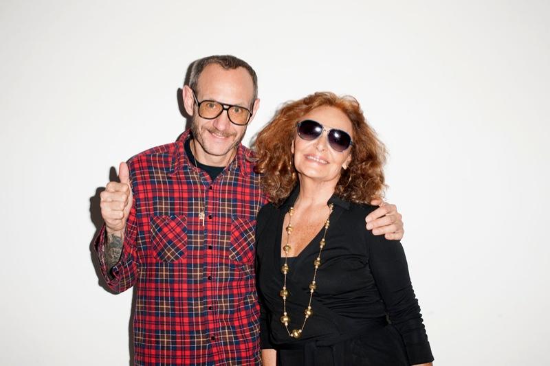 Bar Refaeli & Diane von Furstenberg Pose for Terry Richardson