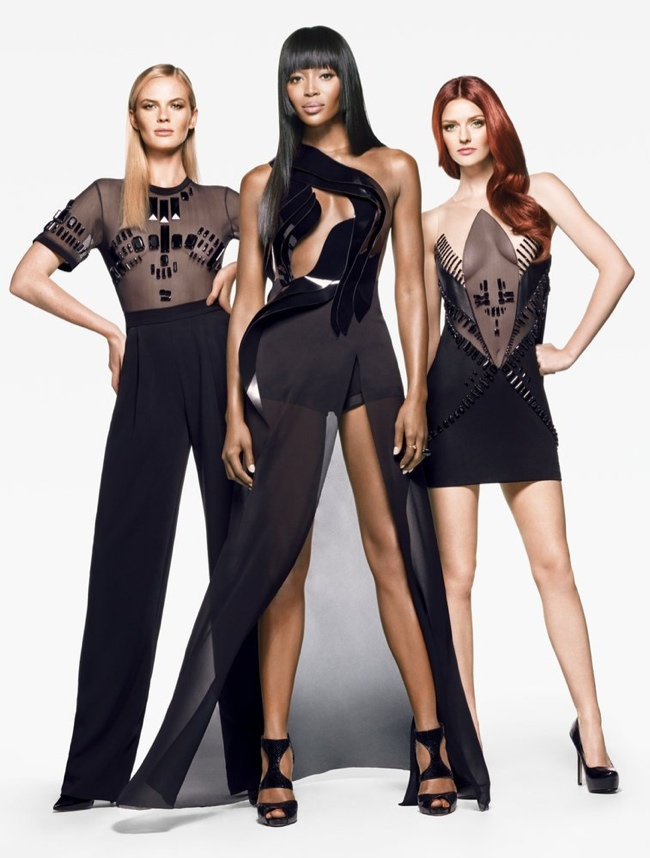 Anne V, Naomi Campbell and Lydia Hearst