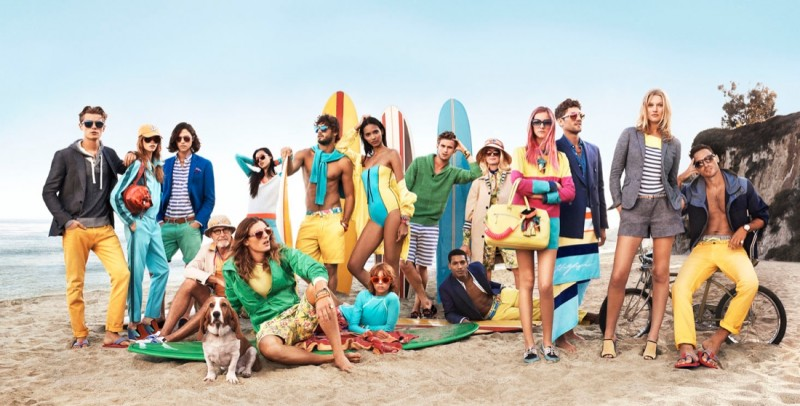 tommy hilfiger spring 2014 campaign1 800x406 Toni Garrn, Jac Jagaciak, Tian Yi + More for Tommy Hilfiger Spring/Summer 2014 Campaign