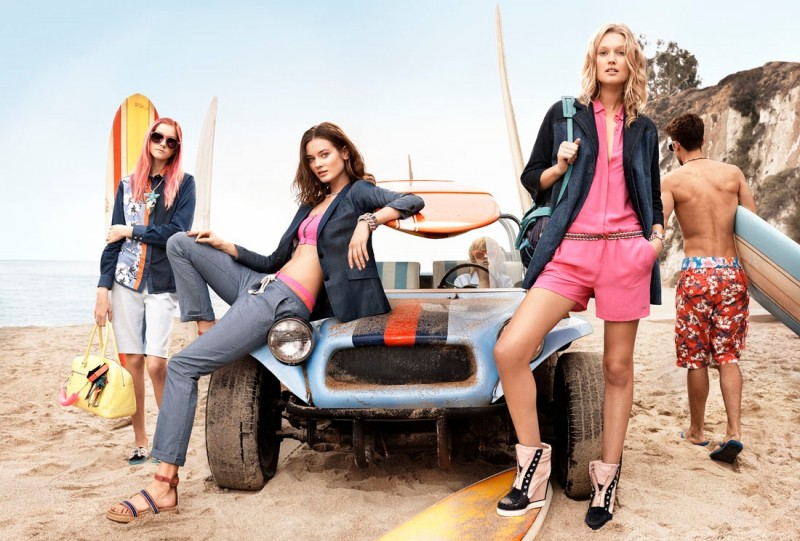 tommy hilfiger spring 2014 campaign2 800x541 Toni Garrn, Jac Jagaciak, Tian Yi + More for Tommy Hilfiger Spring/Summer 2014 Campaign