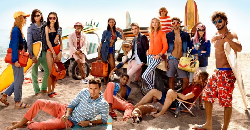 tommy hilfiger spring 2014 campaign5 800x416 Toni Garrn, Jac Jagaciak, Tian Yi + More for Tommy Hilfiger Spring/Summer 2014 Campaign