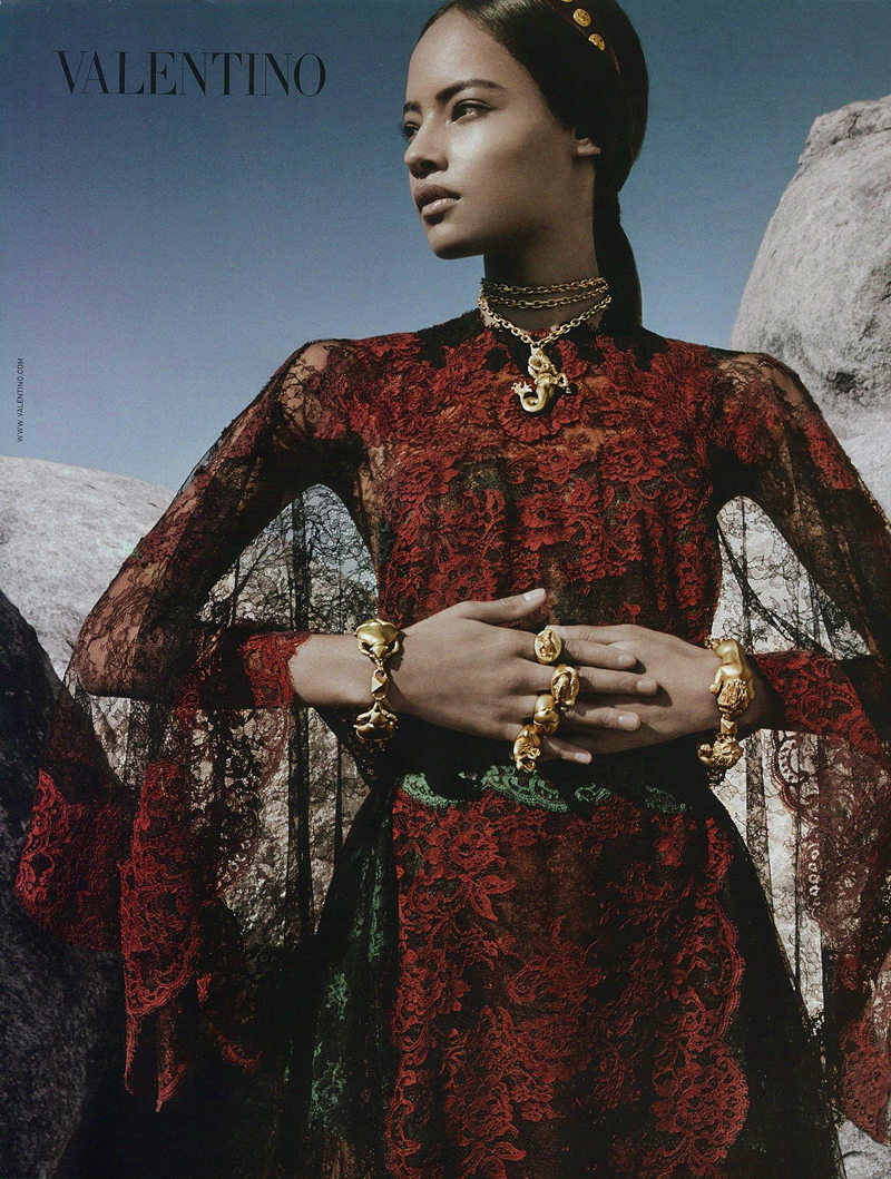 First Look | Malaika Firth for Valentino Spring/Summer 2014 Campaign