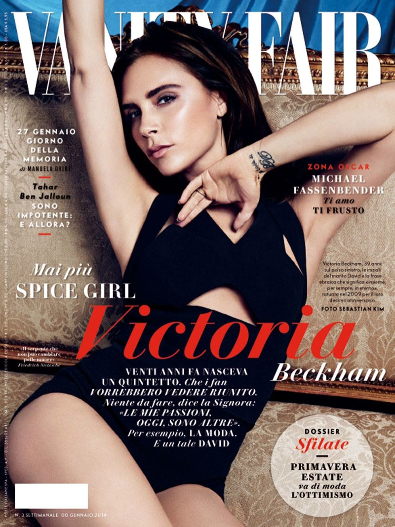 Victoria Beckham on Vanity Fair Spain January 2014 Cover / Photo by Sebastian Kim
