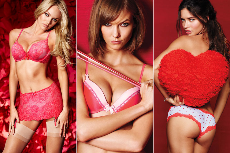 victorias secret valentines day Adriana Lima, Karlie Kloss, Candice Swanepoel for Victorias Secret Valentines Day