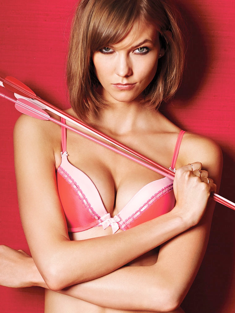 victorias secret valentines day3 Adriana Lima, Karlie Kloss, Candice Swanepoel for Victorias Secret Valentines Day