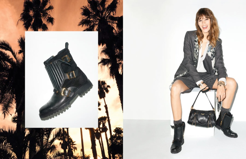 Freja Beha Erichsen for Zadig & Voltaire Spring 2014 Ads by Terry Richardson