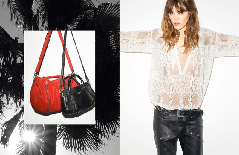 zadig et voltaire spring 2014 campaign3 Freja Beha Erichsen for Zadig & Voltaire Spring 2014 Ads by Terry Richardson