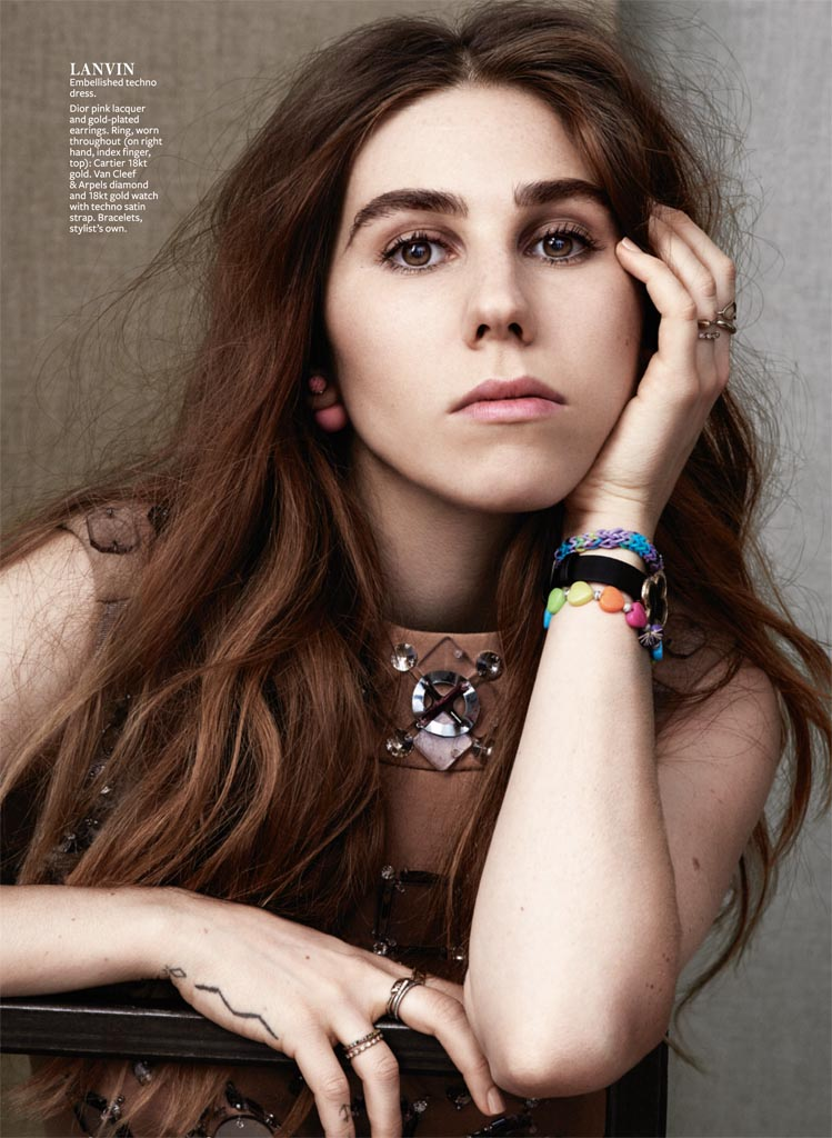 "Zosia Mamet of ""Girls"" Poses for InStyle Shoot by Bjarne Jonasson"