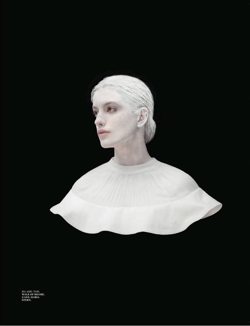 Anna Chipovskaya Gets Statuesque for Interview Russia by Nikolay Biryukov