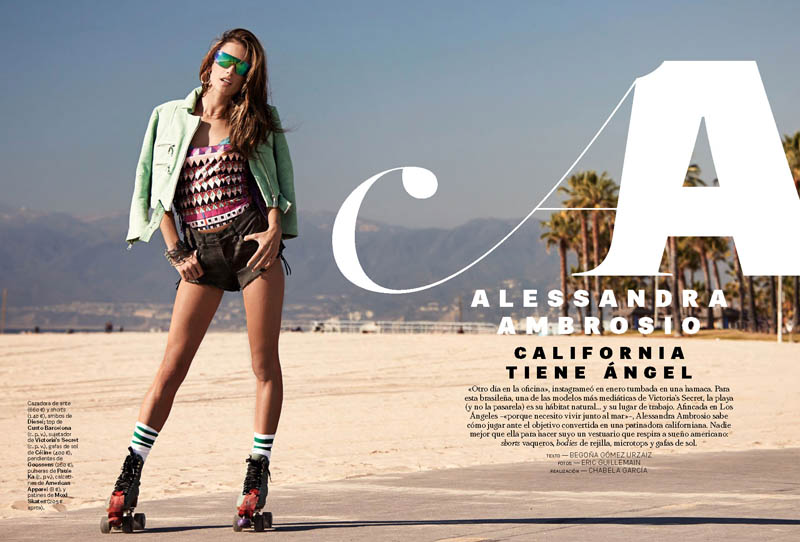 alessandra ambrosio eric guillemain2 Alessandra Ambrosio is a Cali Girl for S Moda Shoot by Eric Guillemain