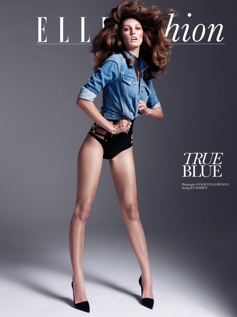 Ali Stephens Rocks Denim Styles for Elle Vietnam by Stockton Johnson