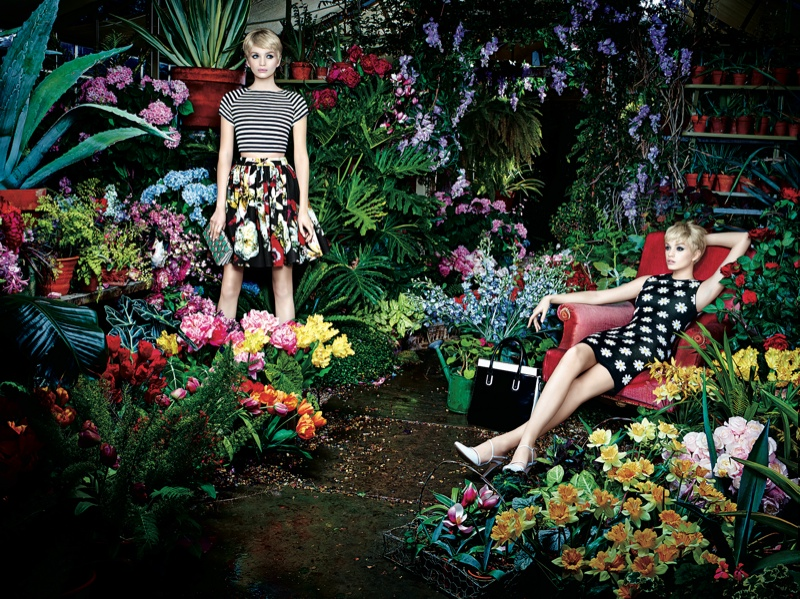 Alice + Olivia Reveals Botanical Spring/Summer 2014 Campaign