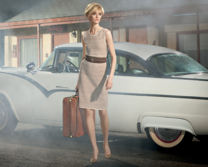 Daria Strokous is a Hitchcock Heroine for Americana Manhasset Spring 2014