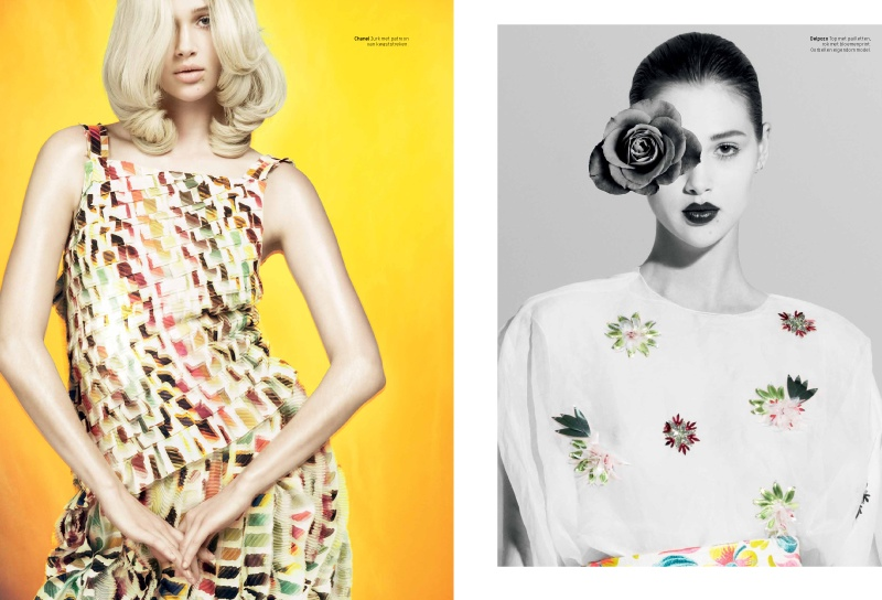 Anais Pouliot is Artful for L'Officiel Netherlands February 2014 Cover Shoot