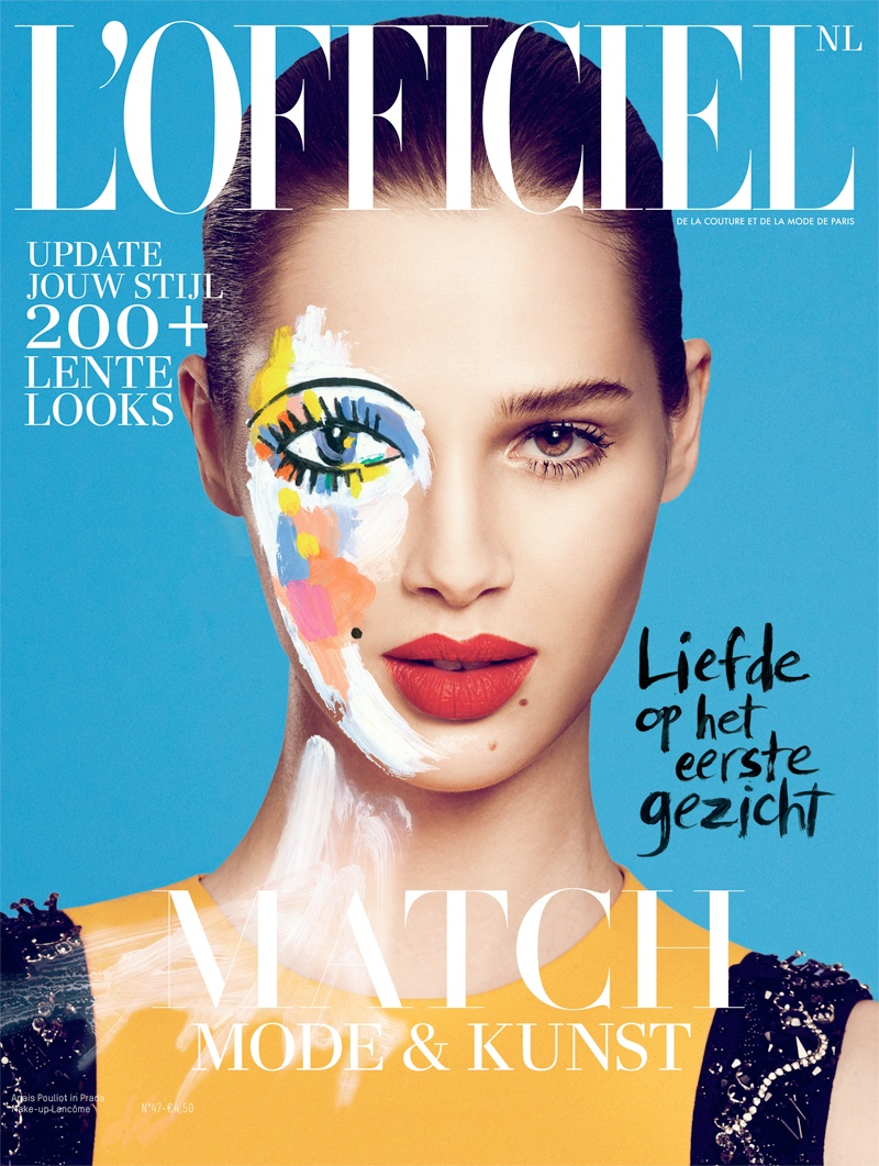 anais pouliot model7 Anais Pouliot is Artful for LOfficiel Netherlands February 2014 Cover Shoot
