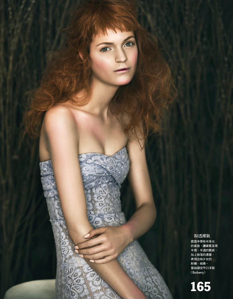 Magdalena Langrova is a Work of Art for Vogue Taiwan by Yossi Michaeli