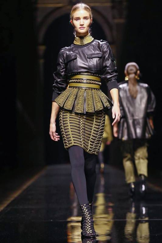 balmain fall winter 2014 show4 Balmain Fall/Winter 2014 | Paris Fashion Week