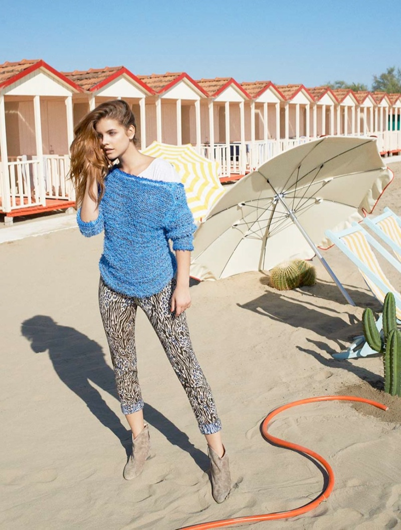barbara iblues campaign7 Barbara Palvin Gets Some R and R in iBlues Spring 2014 Ads