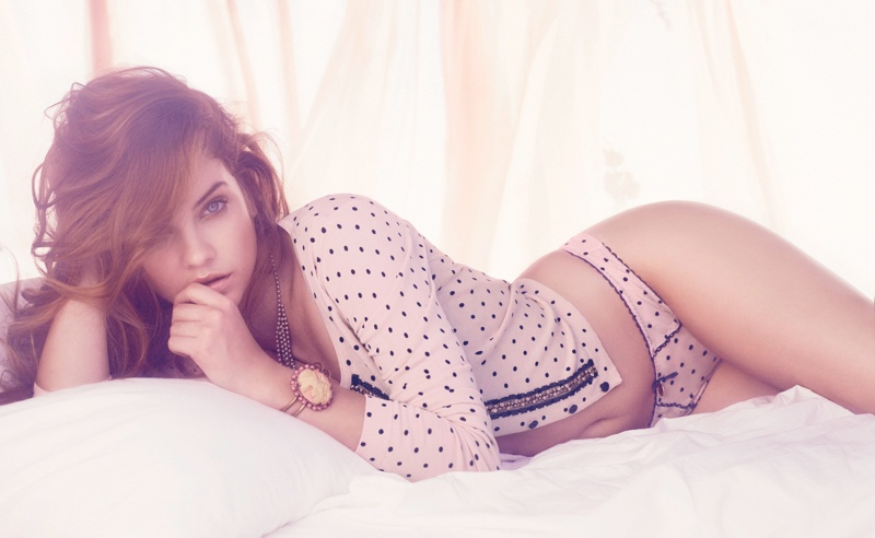 barbara palvin twin set lingerie5 Barbara Palvin Stuns in Twin Set Lingerie Spring 2014 Campaign